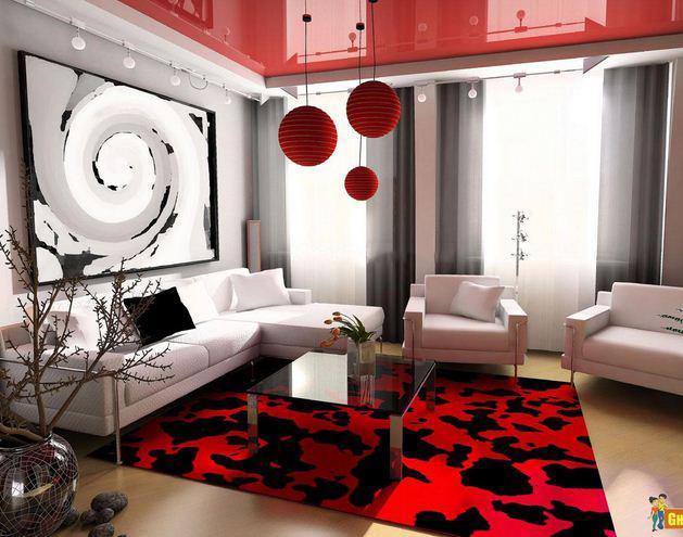 kirmizi-ev-dekorasyonu